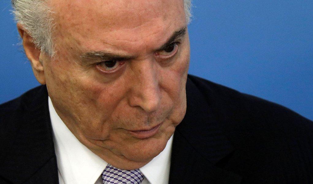 Presidente Michel Temer durante cerimônia em Brasília 05/02/2018 REUTERS/Ueslei Marcelino