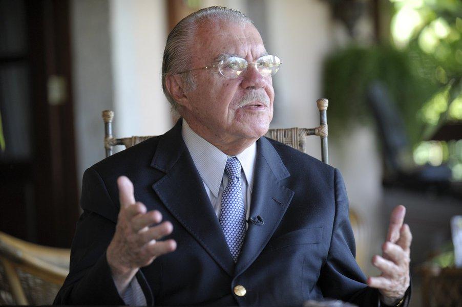 José Sarney concede entrevista. Foto: Jefferson Rudy/Agência Senado