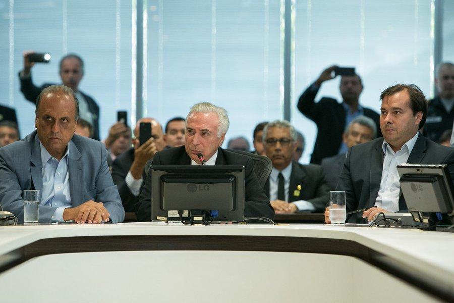 17/02/2018 Reunião de trabalho sobre segurança (Rio de Janeiro - RJ, 17/02/20) Palavras do Presidente da República, Michel Temer