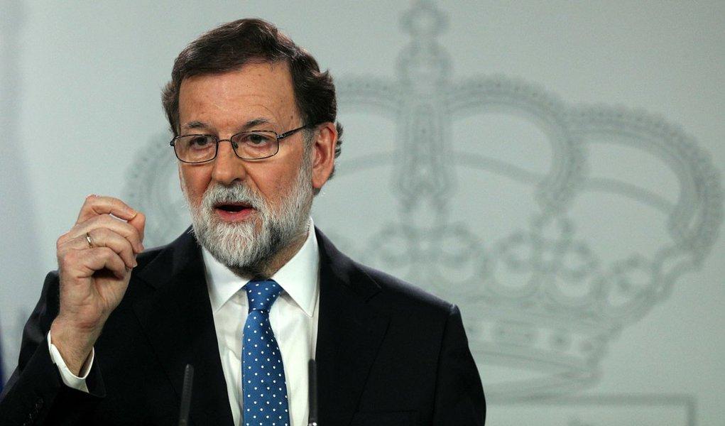 Primeiro-ministro espanhol, Mariano Rajoy, durante coletiva de imprensa em Madri 22/12/2017 REUTERS/Sergio Perez