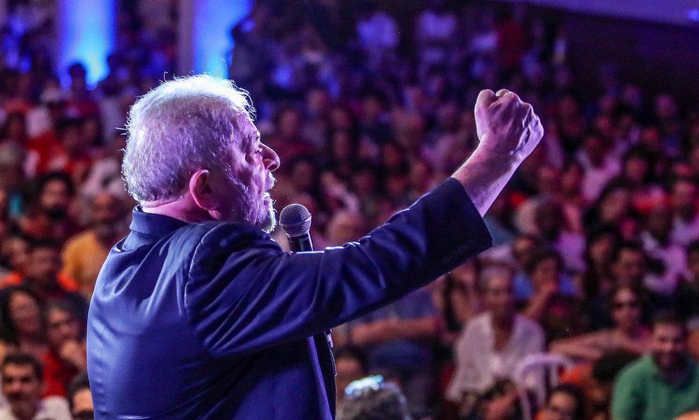 São Paulo 18 01 2018 O ex presidente Lula participa de Ato com artistas e intelectuais em São Paulo Foto: Ricardo Stuckert