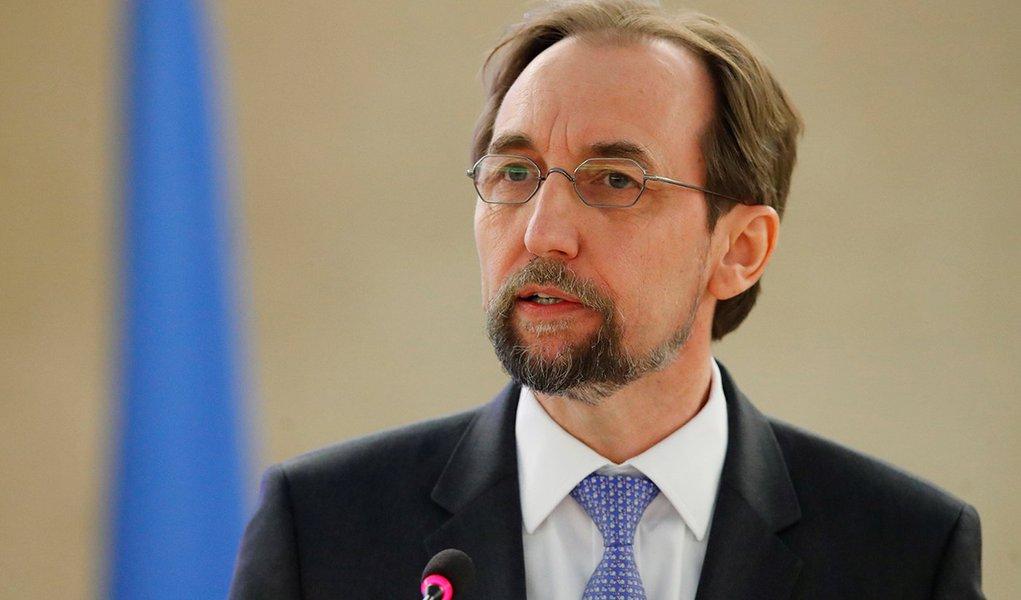 Chefe de direitos humanos da Organização das Nações Unidas (ONU), Zeid Ra'ad al-Hussein, em Genebra, na Suíça 26/02/2018 REUTERS/Denis Balibouse
