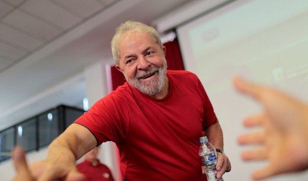 Ex-presidente Luiz Inácio Lula da Silva na sede do Sindicato dos Metalúrgicos do ABC, em São Bernardo do Campo 24/01/2018 REUTERS/Leonardo Benassatto
