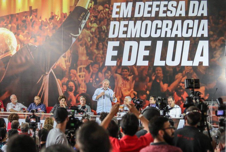 Lula na reunião ampliada da Comissão Executiva Nacional do PT