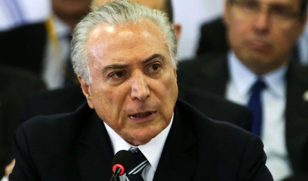 Brasília - Presidente Michel Temer participa de reunião Ministerial do Cone Sul sobre Segurança nas Fronteiras, no Palácio Itamaraty (Wilson Dias/Agência Brasil)