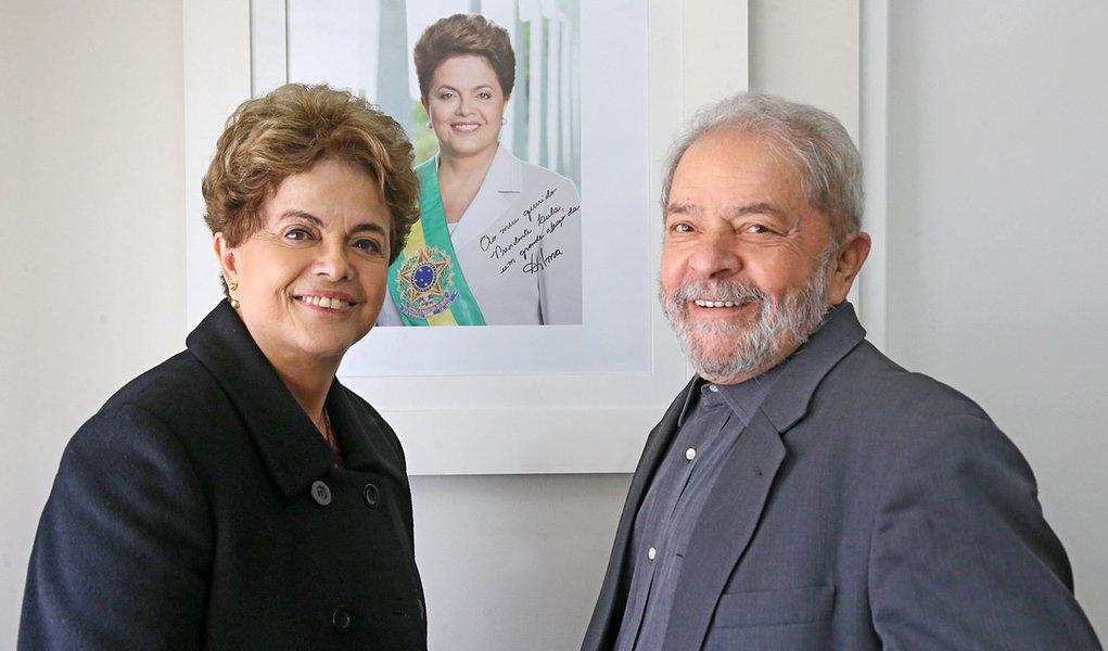 10/06/2016 - São Paulo - SP, Brasil - Presidenta afastada Dilma Rousseff e o Ex-Presidente Lula se encontraram no Instituto Lula nesta sexta-feira (10) - Foto: Ricardo Stuckert/Instituto Lula