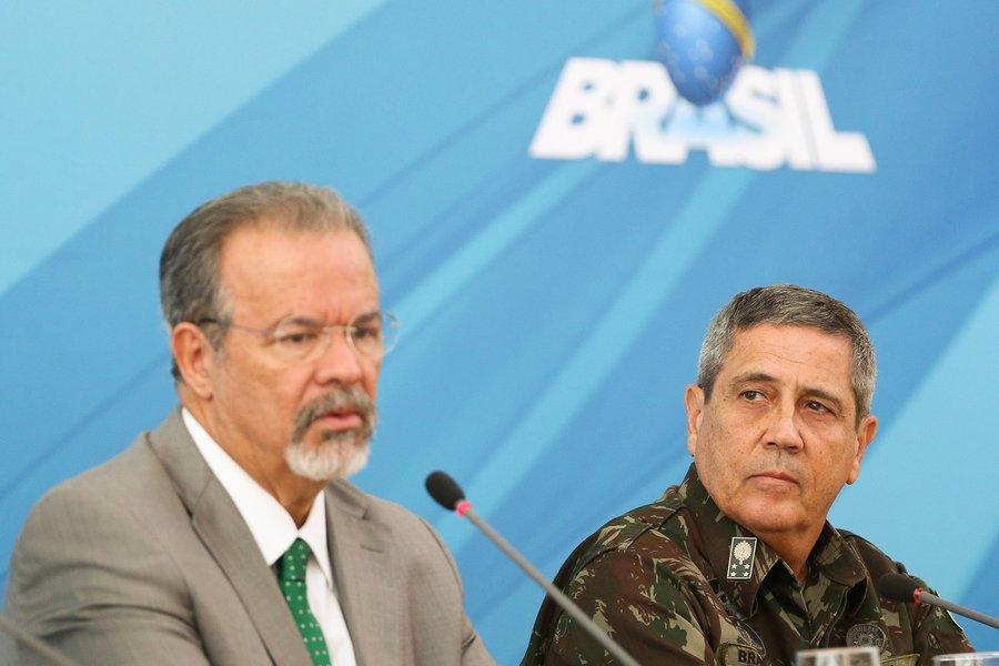 Raul Jungmann, e o comandante Militar do Leste, General Braga Netto