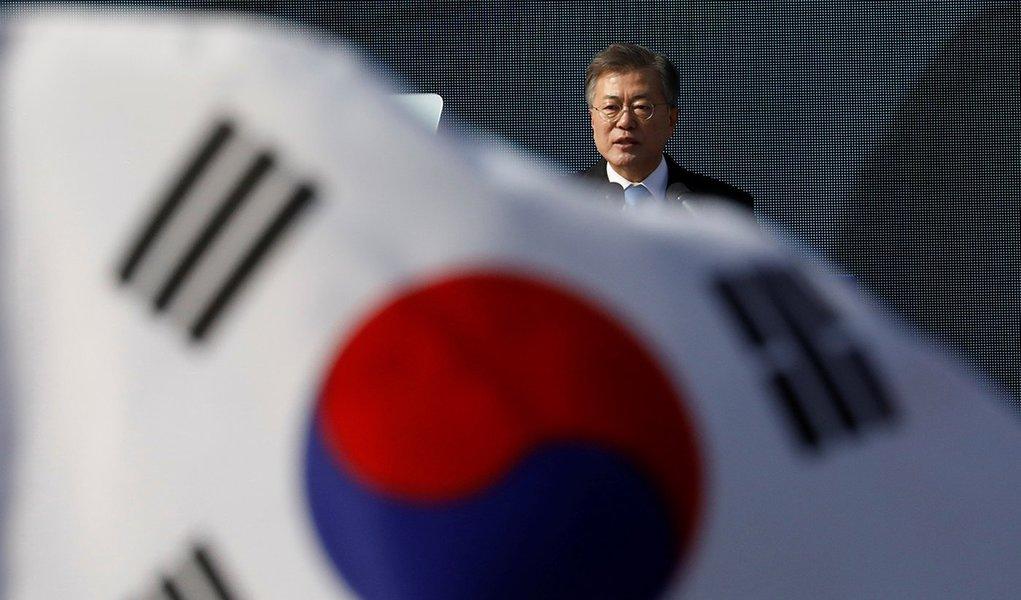 Presidente da Coreia do Sul, Moon Jae-in, em Seul 01/03/2018 REUTERS/Kim Hong-Ji