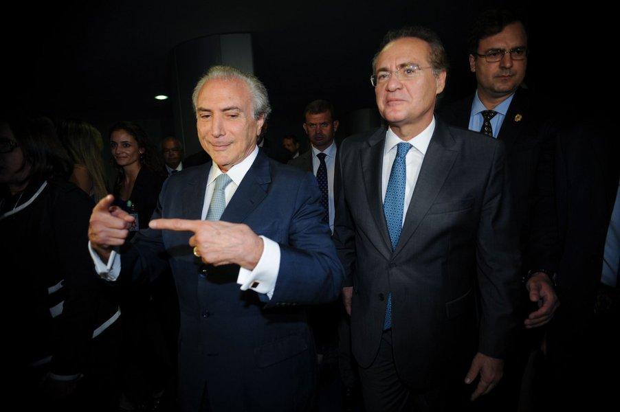 Brasília- DF- Brasil- 10/03/2015- Vice-presidente Michel Temer se reúne com presidente do Senado, Renan Calheiros (Fabio Rodrigues Pozzebom/Agência Brasil)