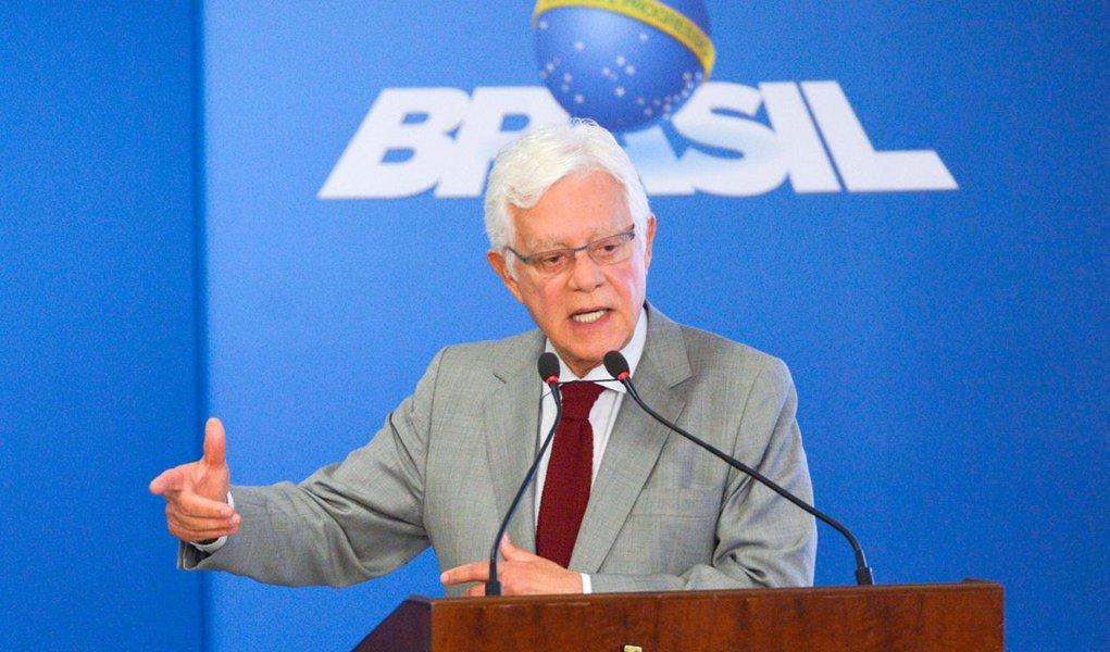 Brasília - Moreira Franco, da Secretaria-Executiva o Programa de Parcerias de Investimentos (PPI) fala durante reunião com o presidente interino Michel Temer e líderes empresariais, no Planalto (José Cruz/Agência Brasil)