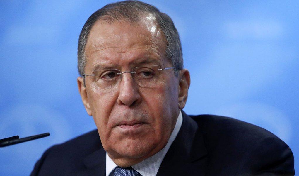 Ministro das Relações Exteriores da Rússia, Sergei Lavrov, durante coletiva de imprensa em Moscou 15/01/2018 REUTERS/Sergei Karpukhin