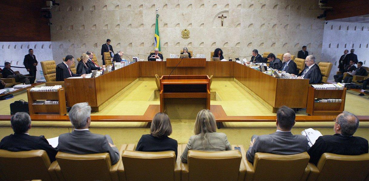 Brasília - Plenário do STF durante julgamento da ação que pretende impedir parlamentares que são réus em ações penais ocupem a presidência da Câmara dos Deputados ou do Senado (Nelson Jr./SCO/STF)