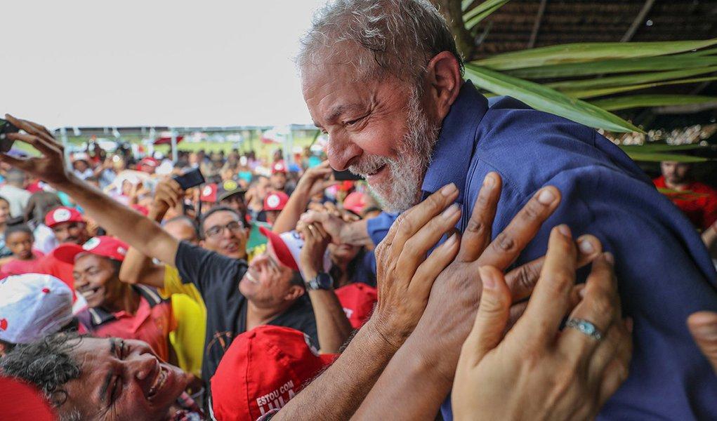 20/08/2017- Lula durante visita ao Acampamento Valdir Macedo do MST no município de Jandaíra Foto: Ricardo Stuckert