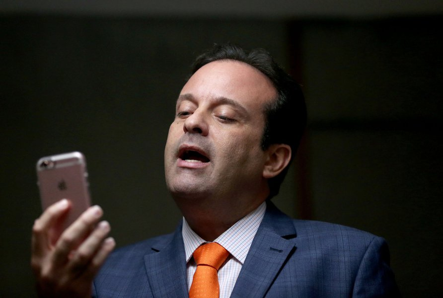 Brasília - Líder do Governo André Moura (PSC-SE), no plenário da Câmara dos Deputados (Wilson Dias/Agência Brasil)