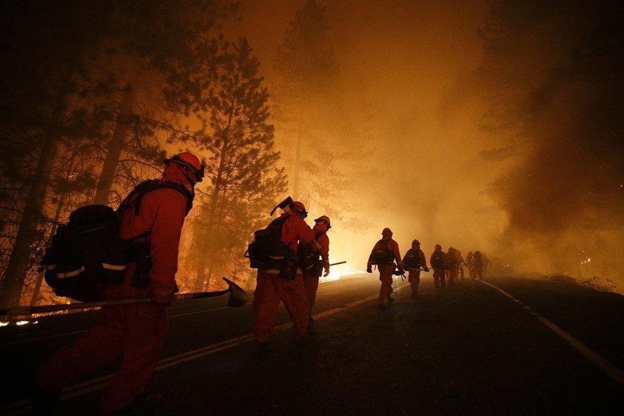 Incêndio florestal na França