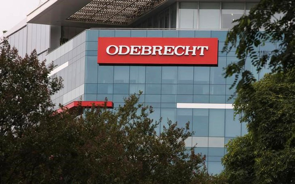 Logo da construtora brasileira Odebrecht em Lima, no Peru 24/01/2017 REUTERS/Guadalupe Pardo