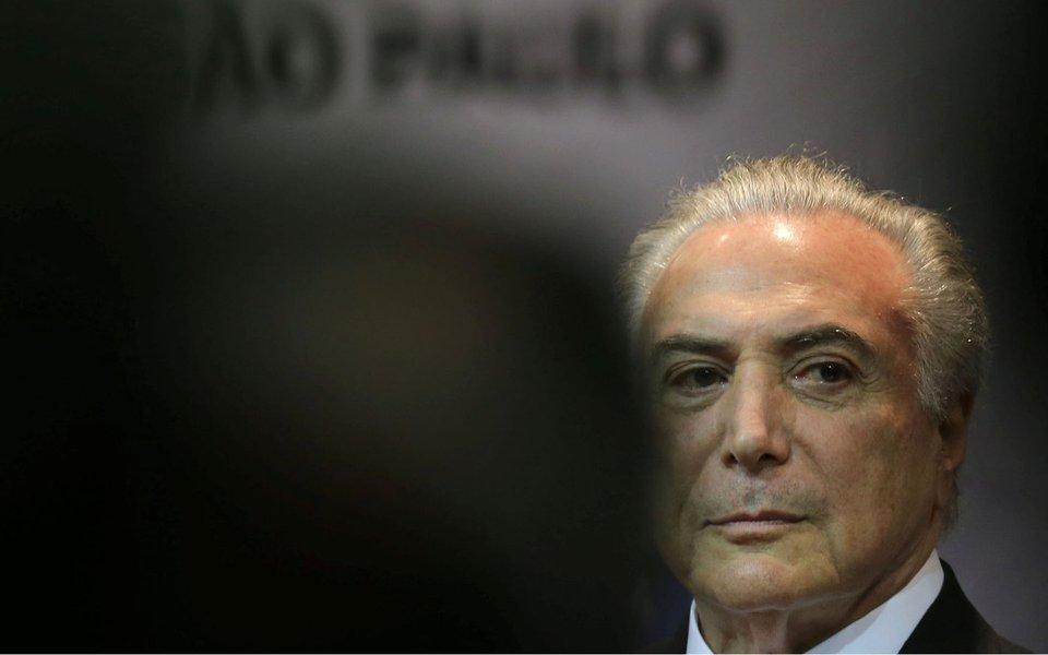 Presidente Michel Temer, durante cerimônia em São Paulo 07/08/2017 REUTERS/Paulo Whitaker