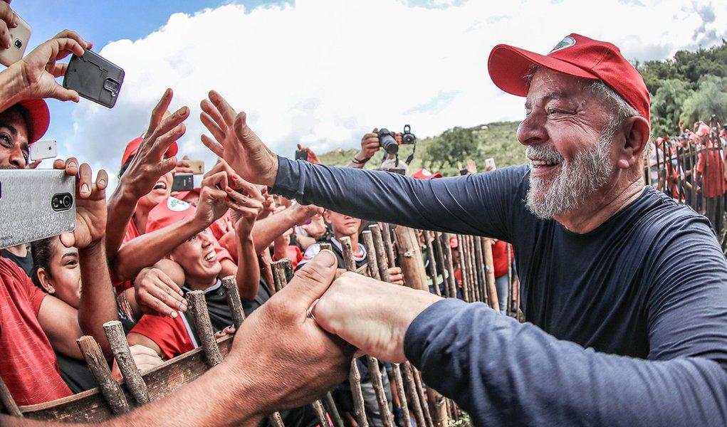 Itatiaiuçu (MG) 21 02 2018 Ex-presidente Lula durante visita ao acampamento Maria da Conceição, do MST, em Itatiaiuçu (MG). Foto: Ricardo Stuckert