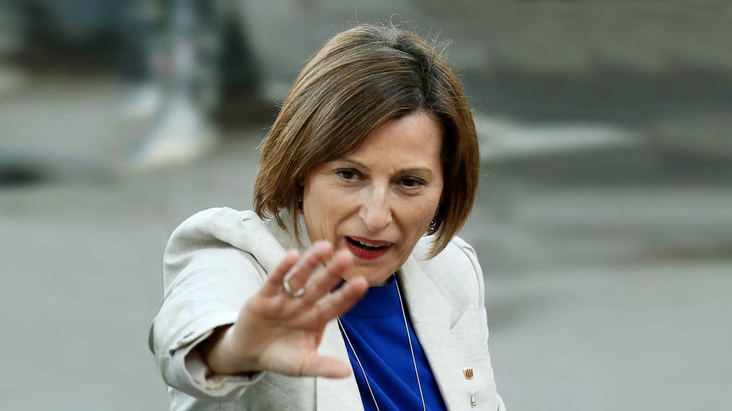 Presidente da Assembleia catalã, Carme Forcadell; Catalunha