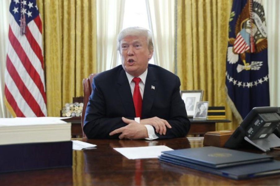 Presidente Donald Trump na Casa Branca, em Washington, EUA 22/12/2017 REUTERS/Jonathan Ernst