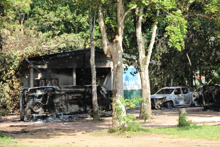 Prédios do Ibama e ICMBio em Humaitá são incendiados após operação no AM Foto Marcos Freire
