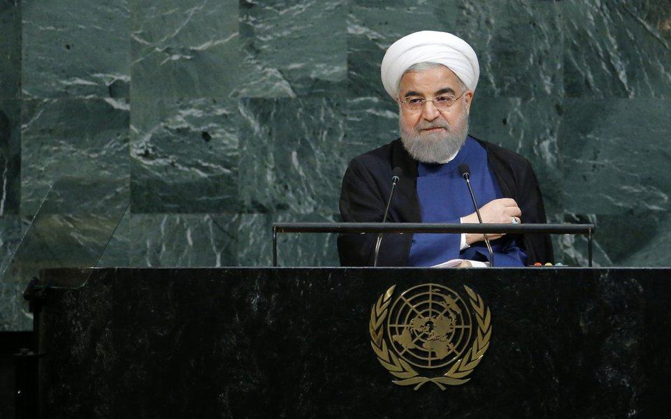 Presidente do Irã, Hassan Rouhani, discursa para a Assembleia-Geral da Organização das Nações Unidas 20/09/2017 REUTERS/Eduardo Munoz