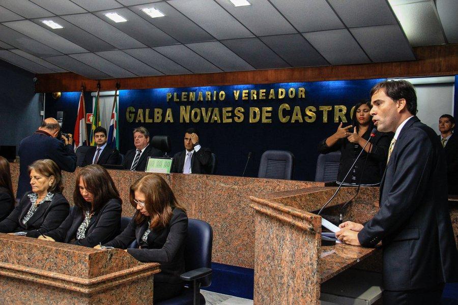 Rui Palmeira participa da solenidade de abertura dos trabalhos na Câmara dos Vereadores em 2016. Foto: Pei Fon/ Secom Maceió