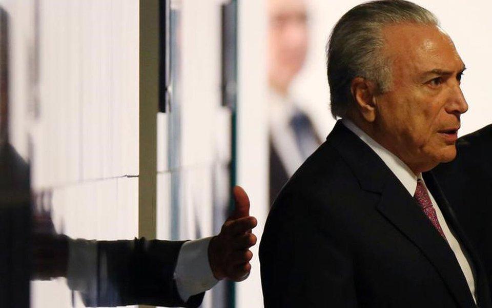 Presidente Michel Temer chega para cerimônia no Palácio do Planalto, em Brasília 27/07/2017 REUTERS/Adriano Machado