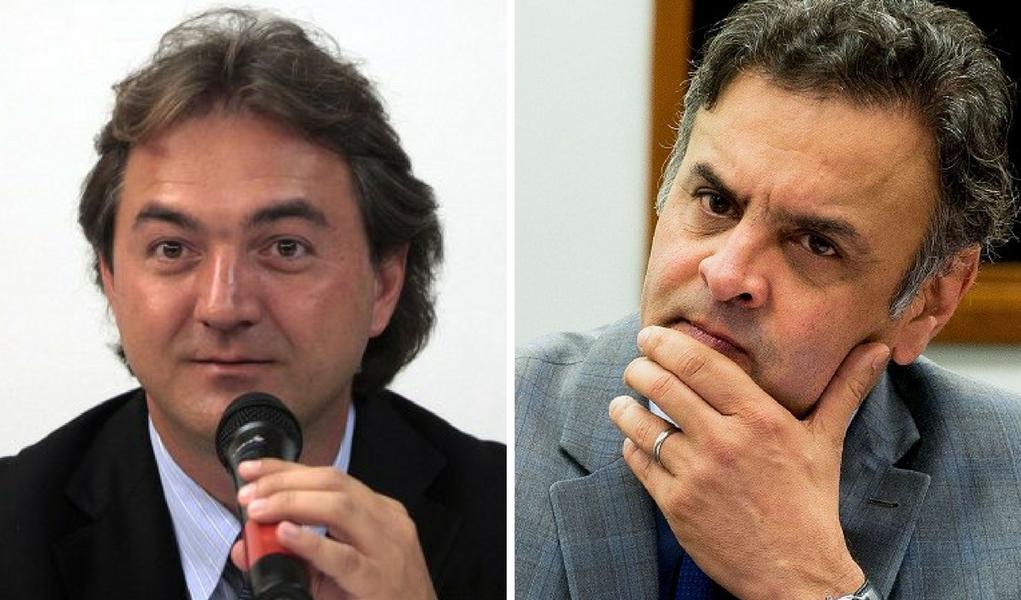 Joesley Batista e Aécio Neves