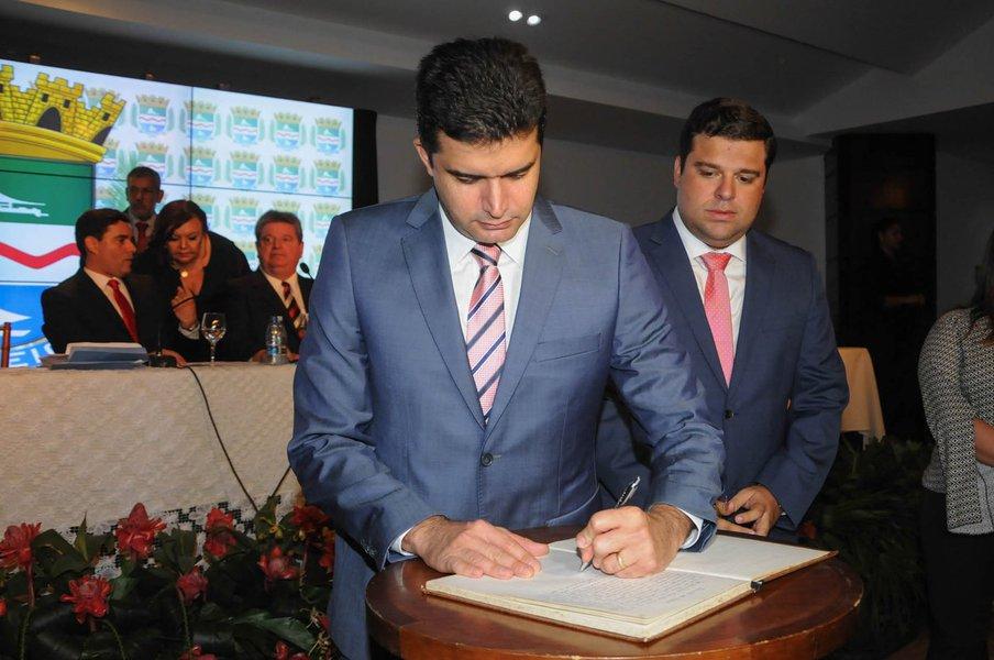 Posse do Prefeito Rui Palmeira e do Vice Marcelo Palmeira Foto:Marco Antônio/SECOM Maceió