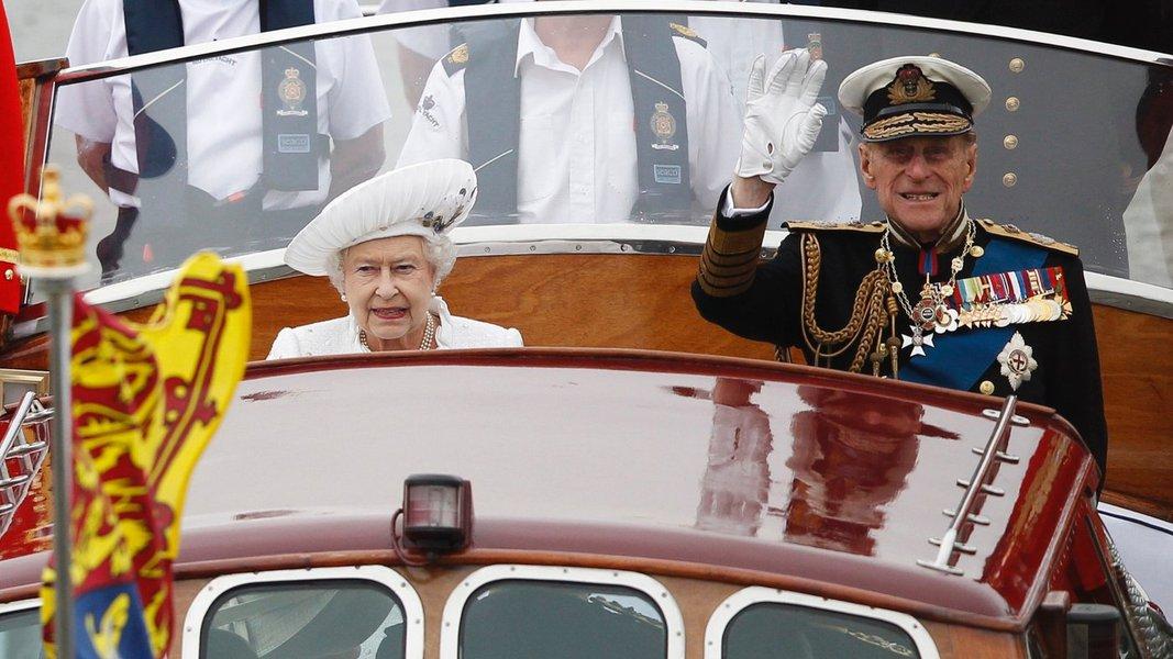 Rainha Elizabeth e príncipe Philip, da Inglaterra