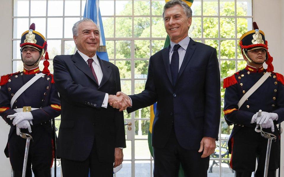 Presidente Michel Temer durante encontro com Presidente da República Argentina, Mauricio Macri (Olivos - Argentina 03/10/2016)