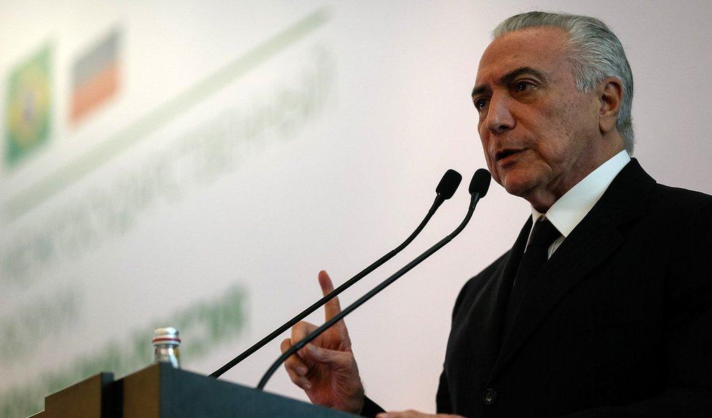 (Moscou - Rússia, 20/06/2017) Seminário de Captação de Investimentos Russos no Brasil. Discurso do Presidente Michel Temer.