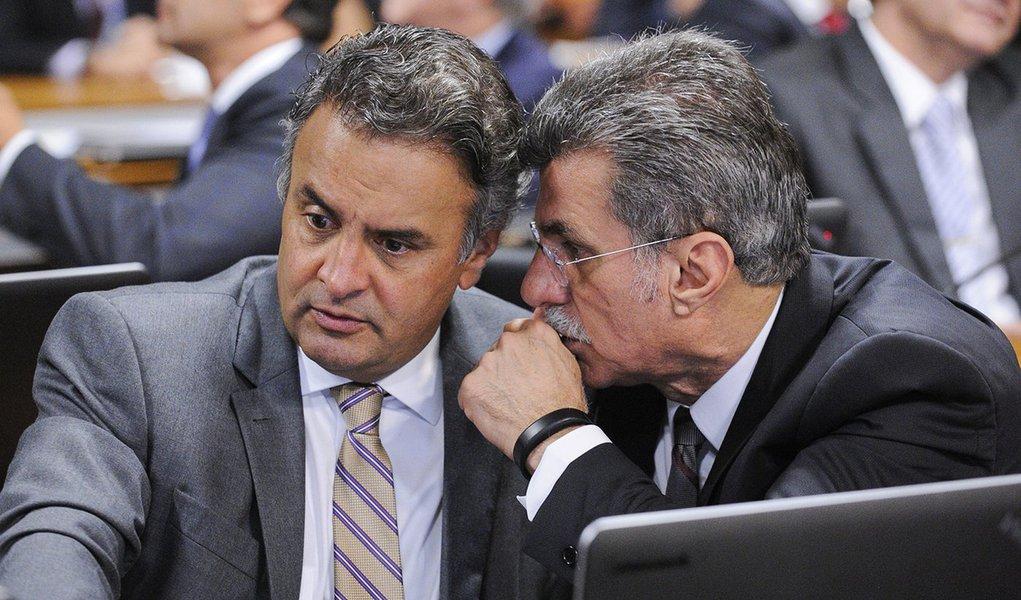 senador Romero Jucá (PMDB-RR); senador Aécio Neves (PSDB-MG)