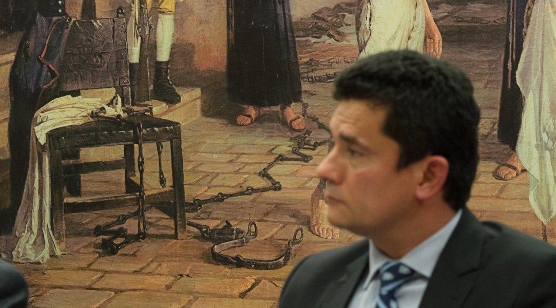 Juiz Sergio Moro durante depoimento na comissão de reforma do Código de Processo Penal