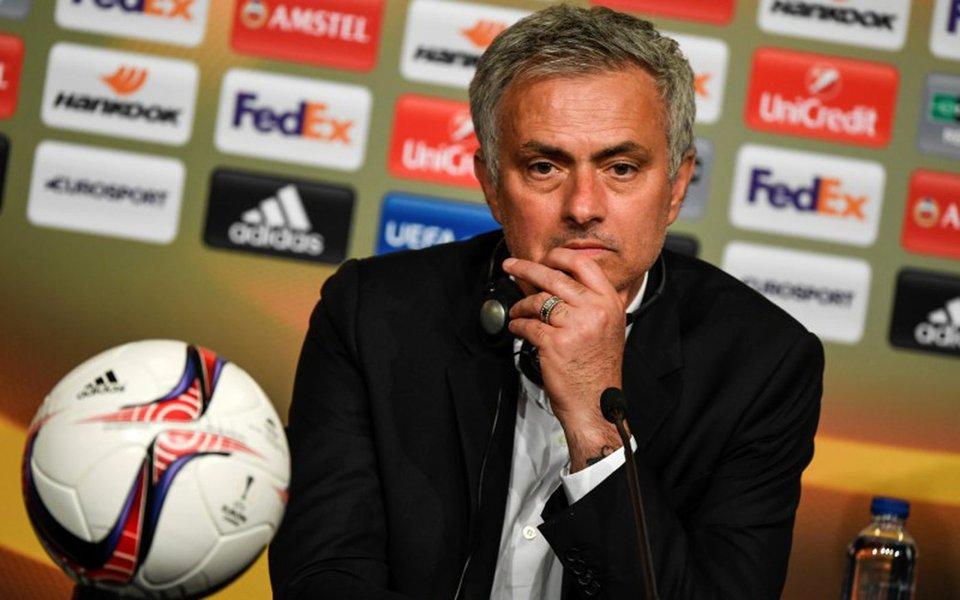 Técnico do Manchester United, José Mourinho, durante coletiva de imprensa na Suécia. 24/05/2017 TT News Agency/Pontus Lundahl/via REUTERS