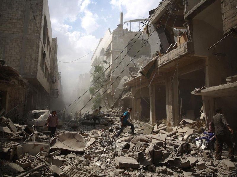 Bombardeio em Raqqa, Síria