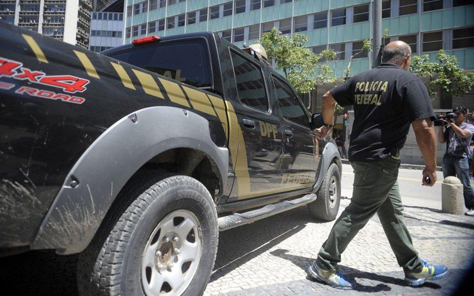 Rio de Janeiro - Polícia Federal cumpre mandado de busca e apreensão no escritório do presidente da Câmara, deputado Eduardo Cunha, no centro da cidade do Rio de Janeiro (Tânia Rêgo/Agência Brasil)
