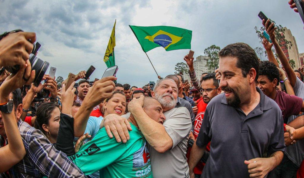 Lula em São Bernardo boulos