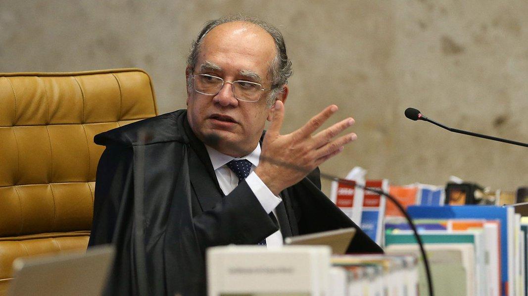 Brasília - Ministro Gilmar Mendes durante sessão plenária do Supremo Tribunal Federal (STF) para julgamento da validade das delações da JBS (José Cruz/Agência Brasil)