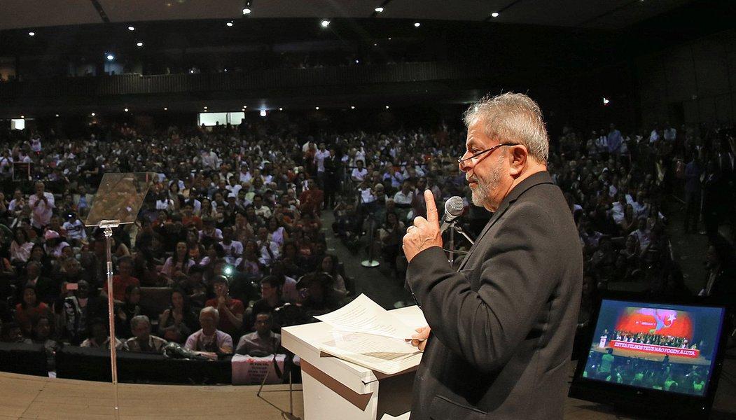 Belo Horizonte- MG- Brasil- 06/02/2015- Ex-presidente Lula discursa em evento que comemora os 35 anos do PT. Foto: Ricardo Stuckert/ Instituto Lula