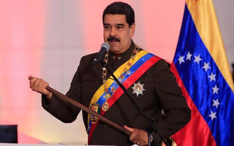 Presidente da Venezuela, Nicolás Maduro, durante cerimônia no Panteão Nacional em Caracas 15/07/2017 Palácio de Miraflores/Divulgação via REUTERS