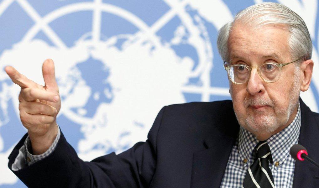 Cientista político e presidente da comissão de inquérito independente das Nações Unidas (ONU) sobre a República Árabe da Síria, Paulo Sérgio Pinheiro