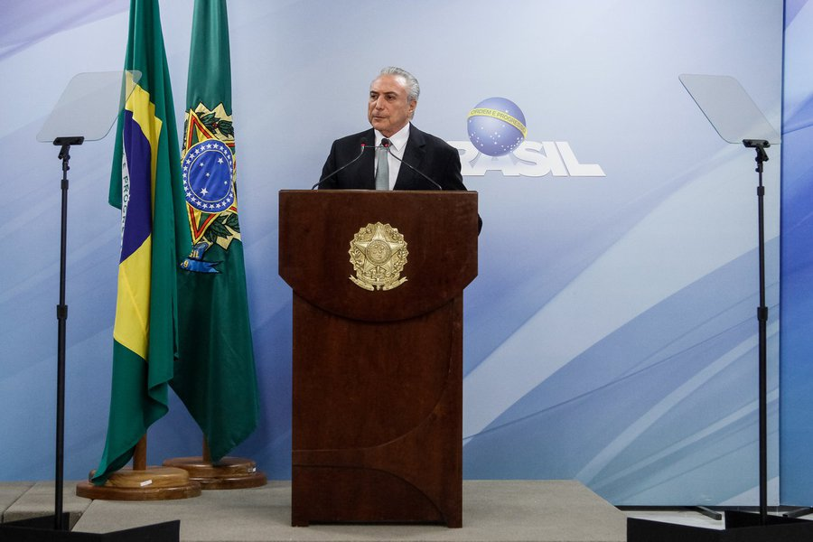 (Brasília - DF, 18/05/2017) Pronunciamento do Presidente da República, Michel Temer à imprensa. Foto: Isac Nóbrega/PR