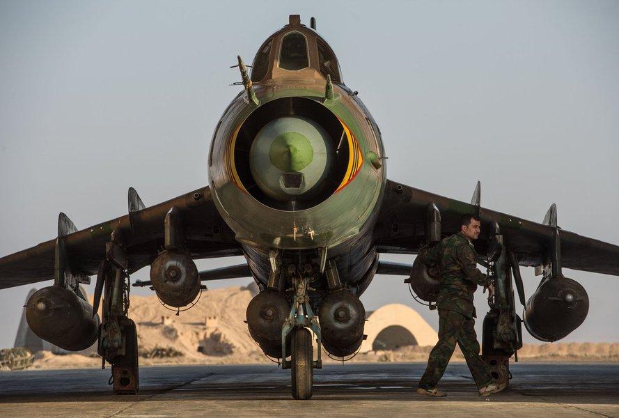 Caça sírio SU-22, guerra na Síria,