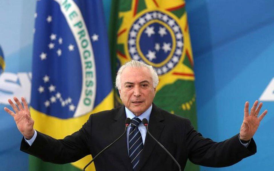 Presidente Michel Temer em cerimônia no Palácio do Planalto, em Brasília 13/07/2017 REUTERS/Adriano Machado