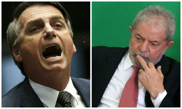 Deputado federal Jair Bolsonaro (PSC) e ex-presidente Luiz Inácio Lula da Silva