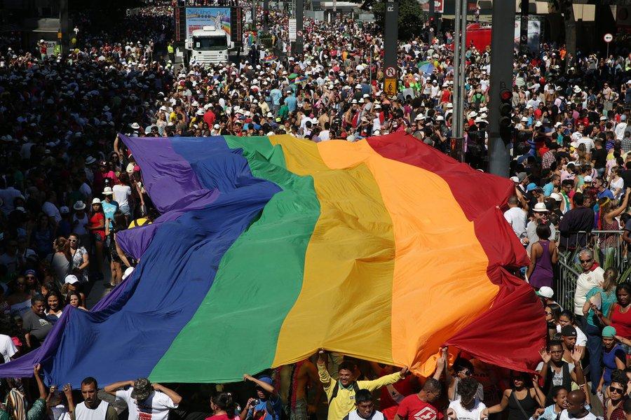 São Paulo- SP- Brasil- 04/05/2014- Parada do Orgulho LGBT 2014, em São Paulo. Foto: Paulo Pinto/ Fotos Públicas