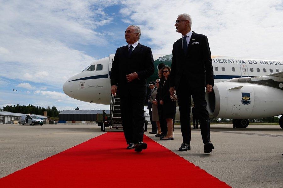 (Oslo - Noruega, 22/06/2017) Chegada a Oslo. Presidente da República, Michel Temer acompanhado do Embaixador George Monteiro Prata, Embaixador do Brasil na Noruega. Foto: Beto Barata/PR
