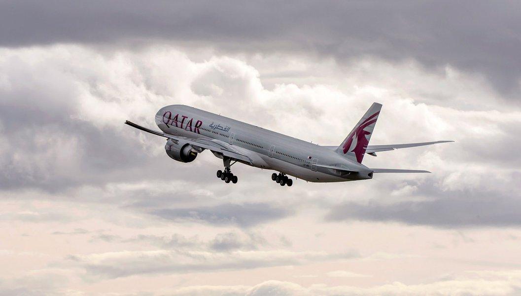 Avião da companhia Qatar Airways
